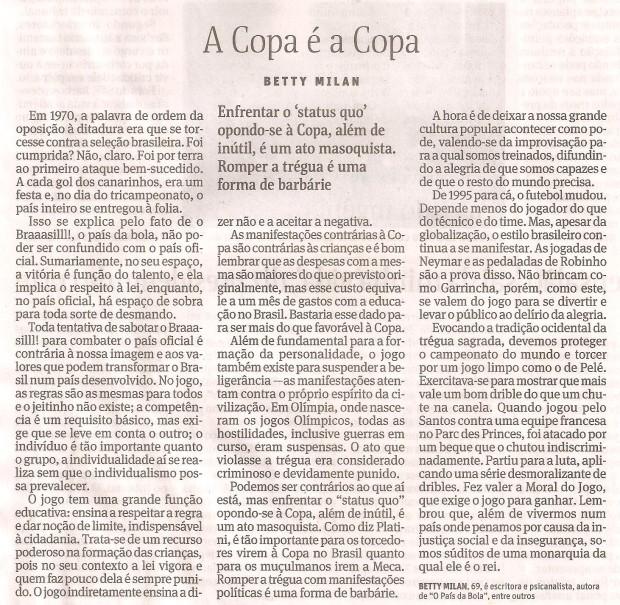 A Copa é Copa, Betty Milan