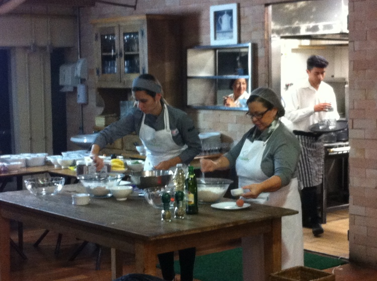 Mila Cozzi no workshop Cozinha Saudável